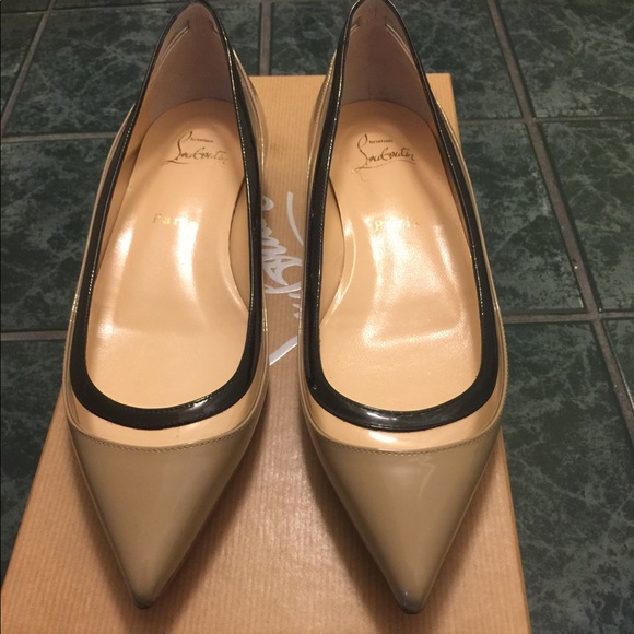 4db2c05abb1 Christian Louboutin Shoes - Authentic Christian Louboutin Paulina pvc flats